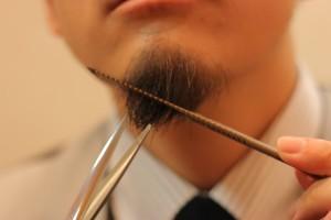 髭を整えるIMG_5112