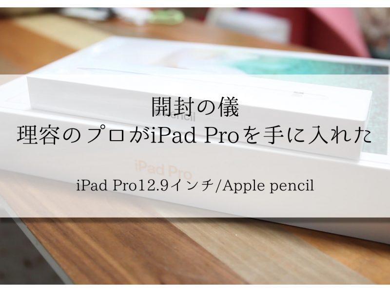 【開封の儀】プロにはプロのツールを!理容のプロがiPad pro12.9インチを手に入れた!